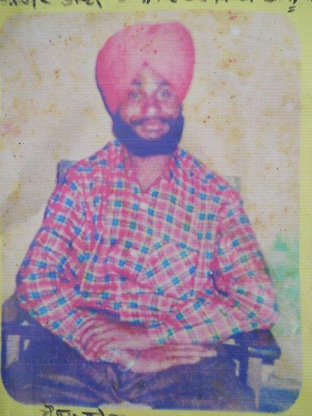 Photo of Rajwinder Singh, victim of extrajudicial execution on March 15, 1992, in Morinda, by Punjab Police; Central Reserve Police Force; Criminal Investigation Agency
