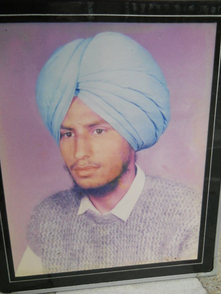 Photo of Nirvair Singh, victim of extrajudicial execution between March 20, 1993 and May 20,  1993, in Chamkaur Sahib, by Punjab Police