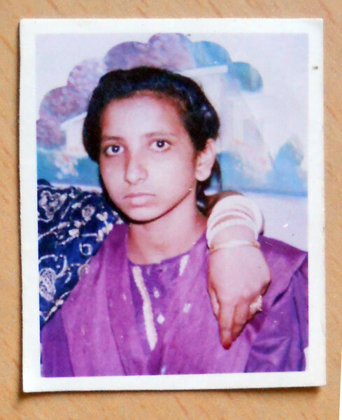 Photo of Manpreet Kaur, victim of extrajudicial execution on August 31, 1991, in Chandigarh, by Black cat