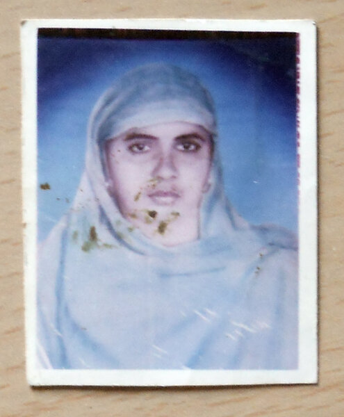 Photo of Jasmair Kaur, victim of extrajudicial execution on August 31, 1991, in Chandigarh, by Black cat