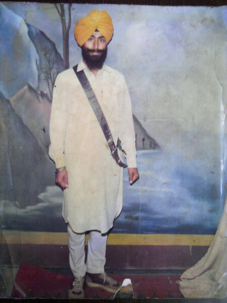 Photo of Inderjit Singh, victim of extrajudicial execution on June 09, 1988, in Jalandhar, by Punjab Police