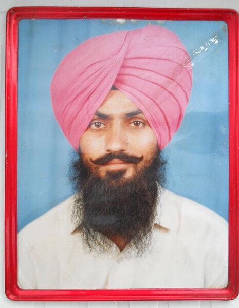 Photo of Gurmail Singh, victim of extrajudicial execution on November 12, 1991, in Rupnagar, by Punjab Police