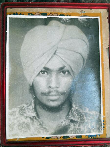 Photo of Satnaam Singh, victim of extrajudicial execution between October 15, 1992 and October 20,  1992, in Rupnagar, by Punjab Police