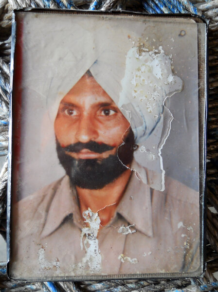 Photo of Bachittar Singh, victim of extrajudicial execution on October 09, 1991, in Morinda, by Punjab Police