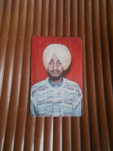 Photo of Jasvir Singh, victim of extrajudicial execution between August 25, 1991 and August 27,  1991, in Chamkaur Sahib, Chandigarh, by Punjab Police