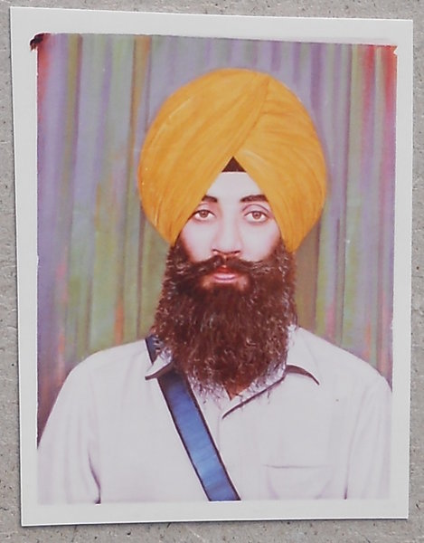 Photo of Inderjit Singh, victim of extrajudicial execution on April 16, 1989, in Kapurthala, by Punjab Police