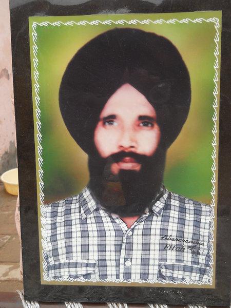 Photo of Thakur Singh, victim of extrajudicial execution between October 22, 1993 and November 23,  1993Punjab Police