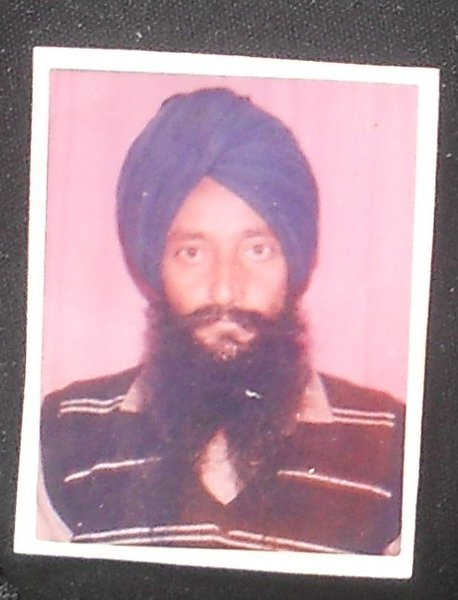 Photo of Mann Singh, victim of extrajudicial execution on October 15, 1991, in Khanna, by Punjab Police