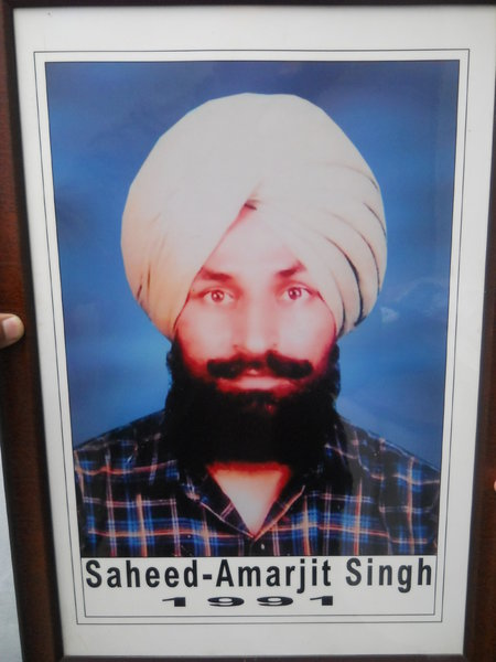 Photo of Amarjit Singh, victim of extrajudicial execution on October 31, 1991, in Patiala CIA Staff, Patiala,  by Punjab Police; Criminal Investigation Agency, in Patiala, by Punjab Police; Criminal Investigation Agency