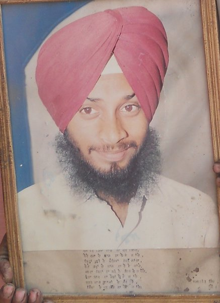 Photo of Amarjit Singh, victim of extrajudicial execution between February 7, 1993 and February 13,  1993 by Punjab Police; Central Reserve Police Force, in Rupnagar, by Punjab Police