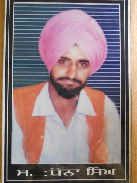 Photo of Dhanna Singh, victim of extrajudicial execution between November 24, 1992 and November 25,  1992, in Handiaya CIA Staff,  by Criminal Investigation Agency, in Handiaya CIA Staff, by Criminal Investigation Agency