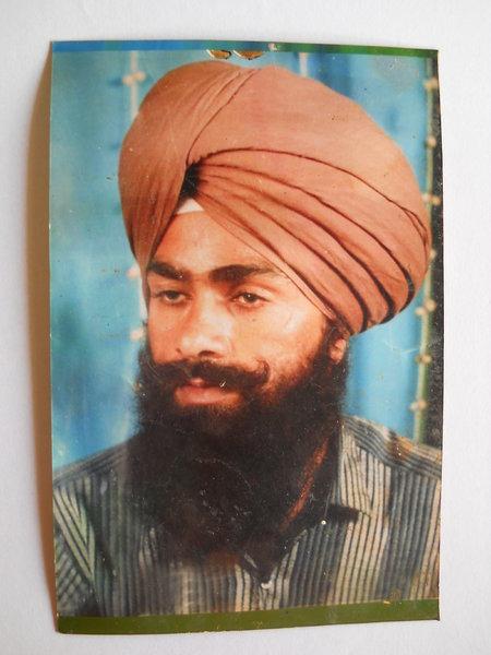 Photo of Gurjant Singh, victim of extrajudicial execution between April 10, 1991 and April 11,  1992, in Rampura Phul, by Punjab Police