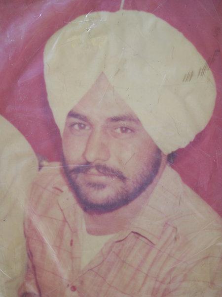 Photo of Gurmeet Singh, victim of extrajudicial execution on June 02, 1990, in Bhadaur