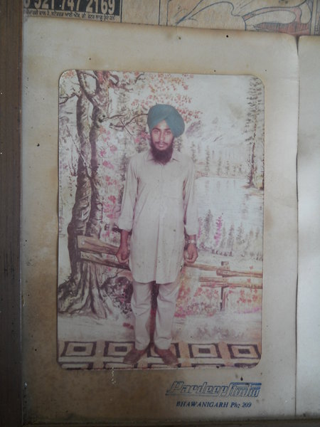 Photo of Paramjeet Singh, victim of extrajudicial execution on May 23, 1993, in Bhawanigarh CIA Staff,  by Punjab Police; Criminal Investigation Agency, in Bhawanigarh CIA Staff, by Punjab Police