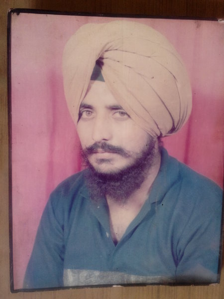 Photo of Tarlochan Singh, victim of extrajudicial execution on March 13, 1993, in Khanna CIA Staff,  by Criminal Investigation Agency, in Malerkotla, by Punjab Police