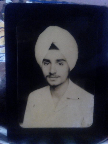 Photo of Gurmeet Singh, victim of extrajudicial execution on April 4, 1983, in Malerkotla, by Punjab Police
