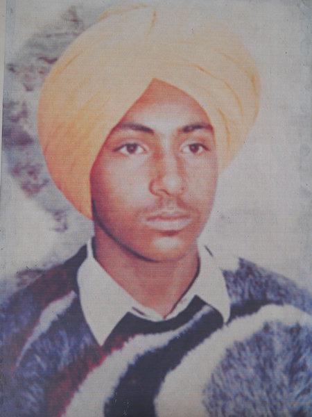Photo of Karamjit Singh, victim of extrajudicial execution on September 17, 1993Punjab Police