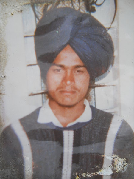 Photo of Amrik Singh, victim of extrajudicial execution on July 11, 1991, in Khadial, Sunam, by Punjab Police