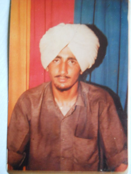 Photo of Avtar Singh, victim of extrajudicial execution on January 26, 1991, in Barnala, by Punjab Police