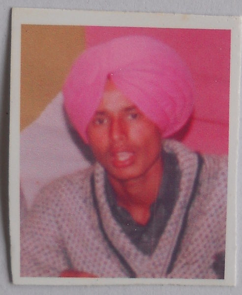 Photo of Hardeep Singh, victim of extrajudicial execution between March 10, 1993 and March 20,  1993, in Bhawanigarh CIA Staff, by Criminal Investigation Agency
