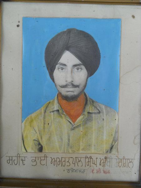 Photo of Amritpal Singh, victim of extrajudicial execution on April 02, 1992, in Barnala CIA Staff, Barnala,  by Punjab Police; Criminal Investigation Agency, in Barnala, by Punjab Police