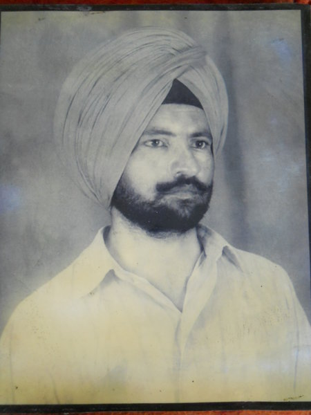 Photo of Narinder Singh, victim of extrajudicial execution on December 08, 1987, in Dirba, by Punjab Police
