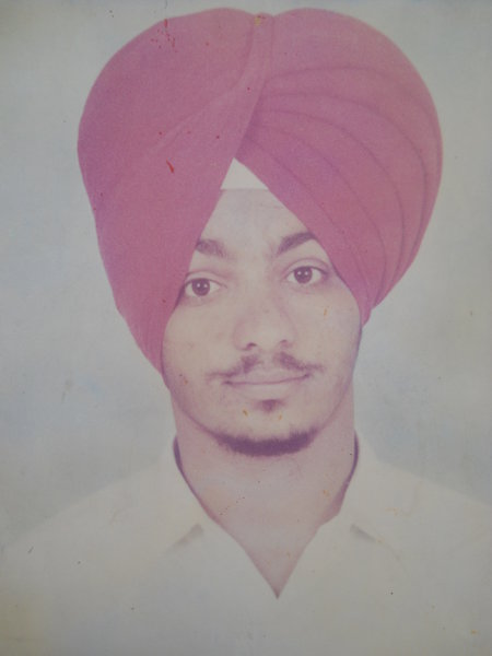 Photo of Sukhsagar Singh,  disappeared on August 15, 1992, in Bhadaur,  by Punjab Police; Black cat