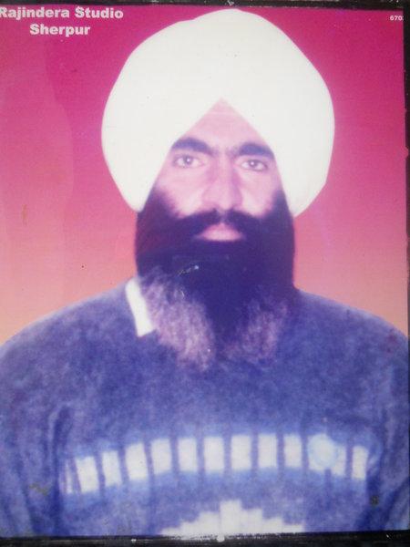 Photo of Amarjeet Singh, victim of extrajudicial execution between November 15, 1992 and November 16,  1992, in Sherpur, Handiaya CIA Staff,  by Punjab Police; Criminal Investigation Agency, in Handiaya CIA Staff, by Punjab Police