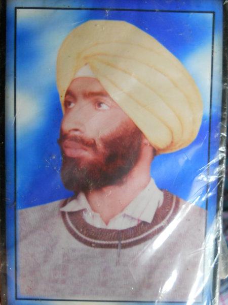 Photo of Akbar Khan, victim of extrajudicial execution on April 24, 1991, in Sangrur, by Punjab Police