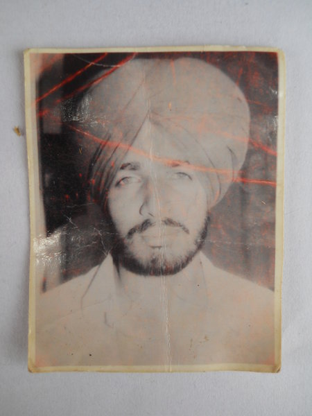 Photo of Jaswant Singh, victim of extrajudicial execution between January 22, 1993 and February 23,  1993, in Bhikhiwind, by Punjab Police