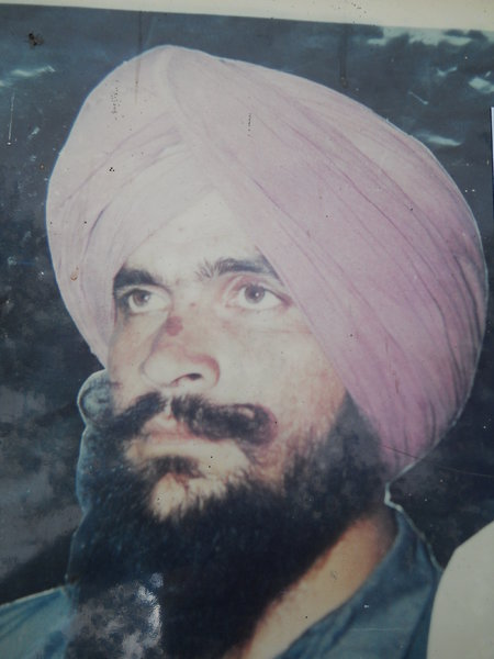 Photo of Gulab Singh, victim of extrajudicial execution between June 21, 1993 and June 22,  1993, in Barnala CIA Staff, by Criminal Investigation Agency